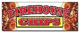 "36"" Firehouse Chips Decal Sticker Chips Restaurant"