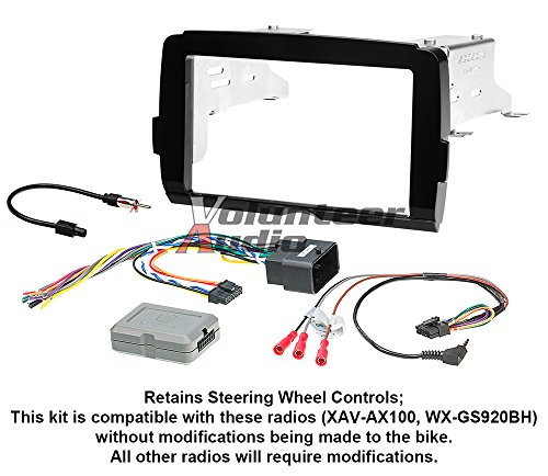 2014-17 Harley Double Din Radio Install Adapter Dash Kit Thumb Controls Double Din Adaptors