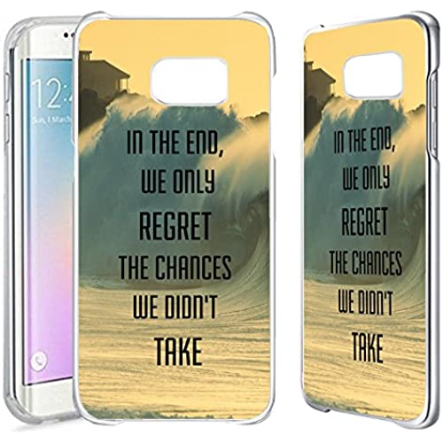 [TeleSkins] - Samsung Galaxy S7 EDGE Clear Case - Regret The Chances Didn'T Take Philosophical Hipster Quote - Ultra Durable Slim Fit, Protective Plastic Snap On Sales