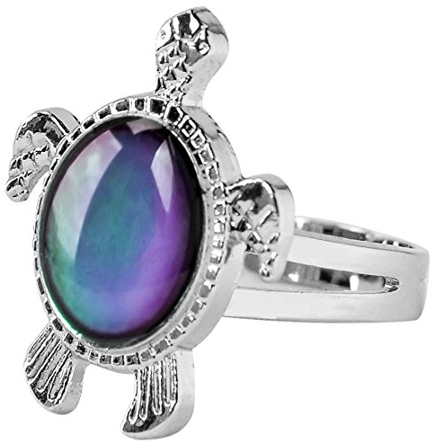 Inspiration Turtle Mood Ring Can Change The Color And Adjust The Size Of The Decorations Turtle Ring