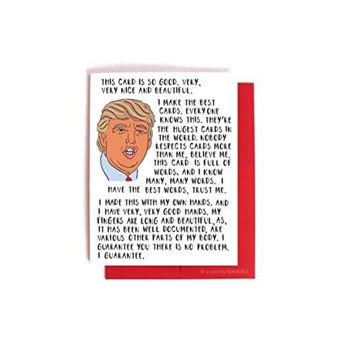 Donald Trump Bragging Card -- Funny Birthday, Valentines Day, Anniversary Card