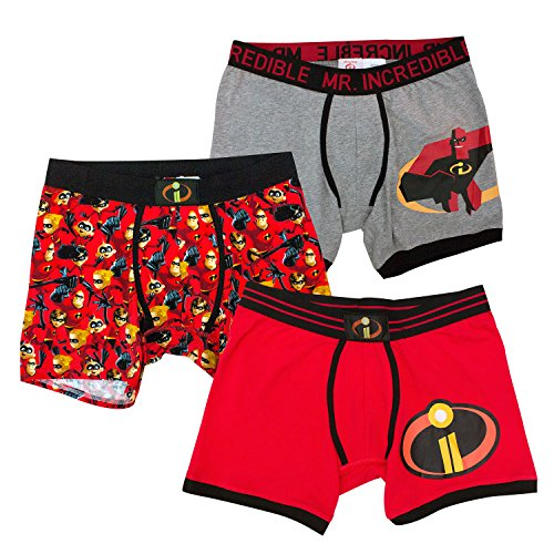 (Incredibles 2 Disney Pixar Mr Incredible 3 Pack Boxer Brief for Men (Large))