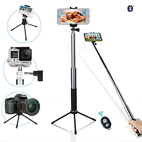 Selfie Stick with Tripod,NewRoad Extentable Selfie Stick with 360 Rotation Metal Phone Tripod and Wireless Remote for Gopro, Digital Cameras and Cell Phone(Andriod (Ultimate Android Smartphone)