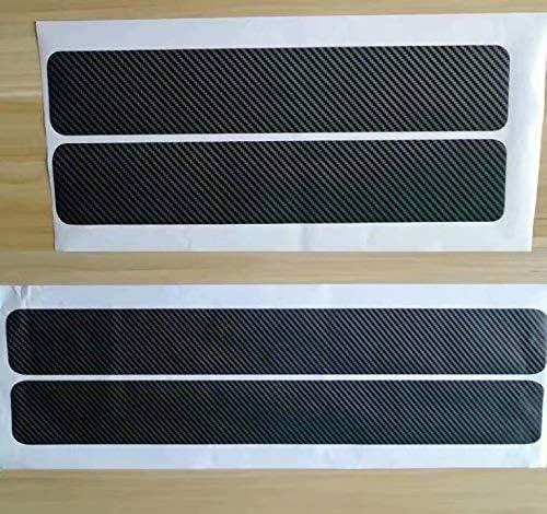 Noir 4 Pcs Fibre de Carbone Seuil de P/édale en Fibre de Carbone Scuff Scratch R/ésistant Autocollant de Protection pour Seuil de Porte de Voiture Protections de seuils de portes de voitures