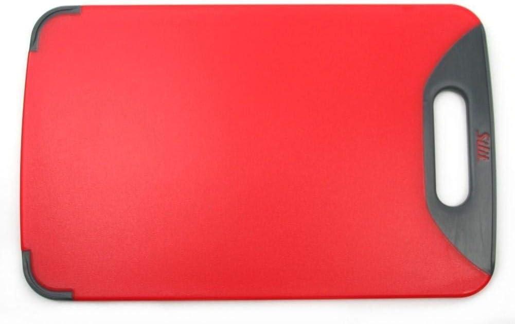 Silit Schneidebrett Tranchierbrett 38x25cm rechteckig aus hochwertigem Kunsstoff Saftrillen mit praktischem Griff sp/ülmaschinengeeignet leichte Reinigung hygienisch klingenschonend geschmacksneutral