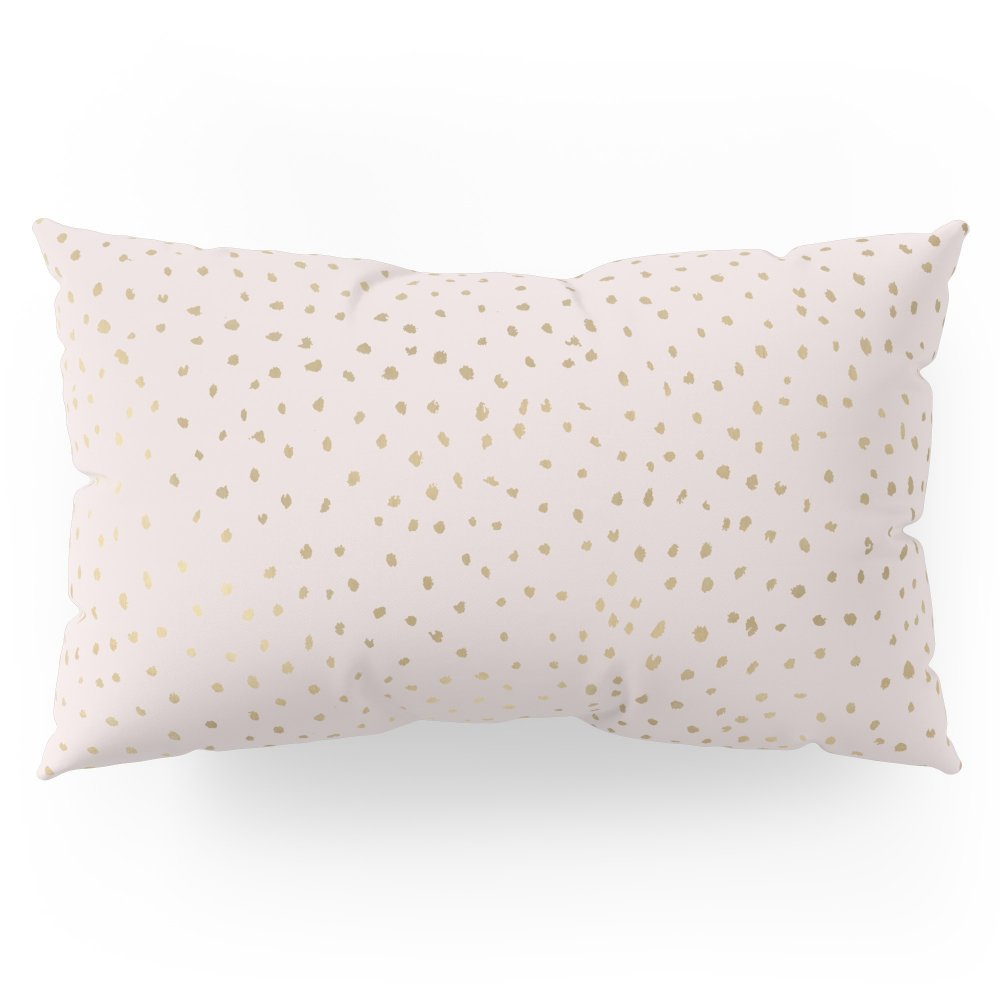Society6 Dotted Gold & Pink Pillow Sham King (20'' x 36'') Set of 2