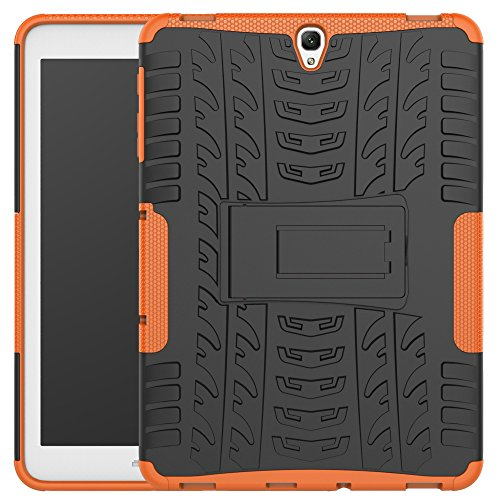 (Galaxy Tab S3 9.7 Case, Asstar Ultra Slim Galaxy Tab S3 9.7 Smart Rugged Protective Case Cover Stand Function Dual Layer Design for Galaxy Tab S3 Tablet (9.7 Inch, SM-T820 T825) (Orange))
