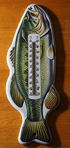 Fish Switchplate Cover - Bass Fish Indoor Outdoor Thermometer Fishing Cabin Fisherman Lodge Decor