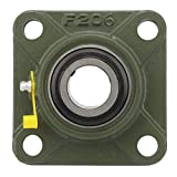 Square Bearing,4 Blot Pillow Block Bearings Square Mounted Insert Spherical Bearing UCF204 UCF205 UCF206 with Double-Structured Sealing Device for Textile Machinery and Ceramic Machinery(UCF206)