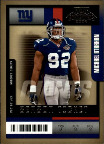2004 Playoff Contenders Football Card #67 Michael Strahan