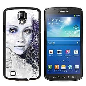 Caucho caso de Shell duro de la cubierta de accesorios de protección BY RAYDREAMMM - Samsung Galaxy S4 Active i9295 - Pintado Chica