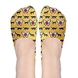 XYMNZGS Funny Butterfly Flags No Show Socks Women Ankle Socks Running Socks For Travel