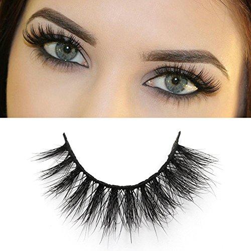 FADLASH Natural Looking False Eyelashes Wispies Siberian Real Mink Strip Top Lash Eyelashes Best for Beginners 1 Pack