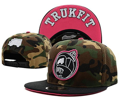 Trukfit Caps Cotton Flat Bill Floral Agreeable Snapback Cap Hat Hats