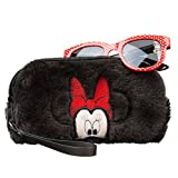 Minnie Mouse Girls Sunglasses & Soft Fuzzy Carrying Case Set- 100% UV Protection for Kids