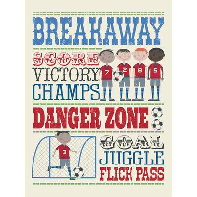 Play All Day Soccer Canvas Art Size: 30'' H x 24'' W x 1.5'' D by Oopsy Daisy