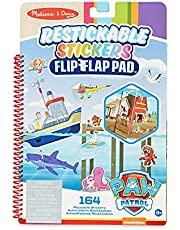 Melissa & Doug PAW Patrol Restickable Stickers Flip-Flap Pad - Adventure Bay (164 Reusable Stickers)