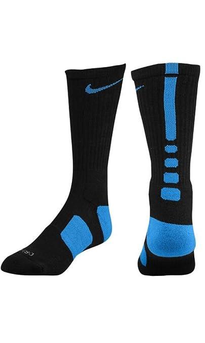 Nike Elite Cushioned Basketball Crew Socks Black Game Royal SX3693-004 Size 8-12