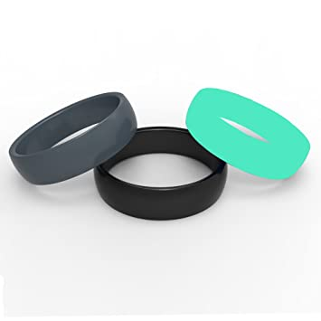 silicone wedding ring band for athletic and active men and women flexible silicone ring is - Plastic Wedding Rings