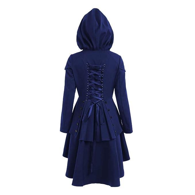 Abrigo para Mujer Caída De Las Mujeres Fiesta Asimétrico con Dobladillo Estilo Cordones Abrigo con Capucha