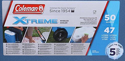 Coleman Kühlbox 'Xtreme' 50 QT mit Rädern 4