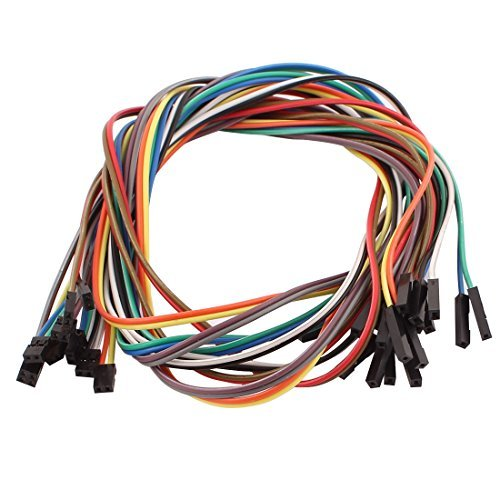 EbuyChX 10pcs 1P 2.54mm sa 2P 2.0mm Babae breadboard Double Head Jumper Wire Cable ()