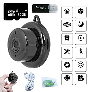 Wi-Fi Spy Camera with Audio and Video, Home Security Camera with Motion Detection, Remote Monitoring, Home Camera with APP for Phone, 32G SD Card Included, Mini Hidden Camera for Homes, Offices