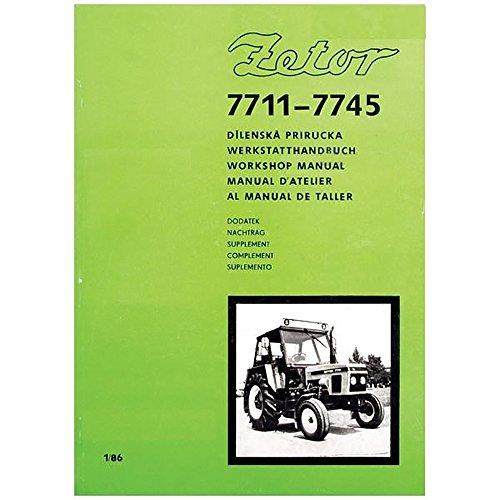 Miscellaneous Tractors Zetor 7711-7745 Workshop Manual