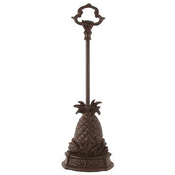 Heavy Cast Iron Pineapple Door Porter Door Stop With Carry Handle