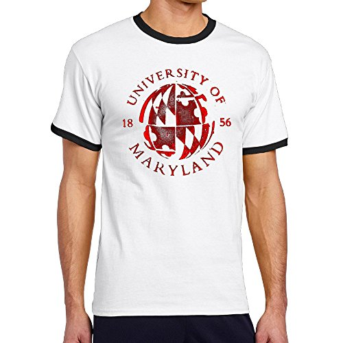 Mens University Of Maryland--College Park Logo Contrast Color Shirts - Lafayette College Mascot