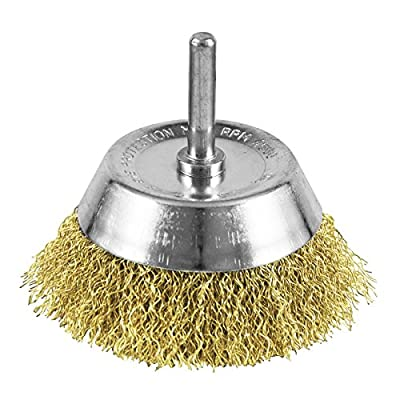 """EAB Tool 2160408 3"""" Brass Coarse Wire Cup Wire Brush - Recyclable,"""