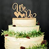 ROSENICE Wedding Cake Topper WE DO Wood Wedding Cake Decorations(Wood colour)
