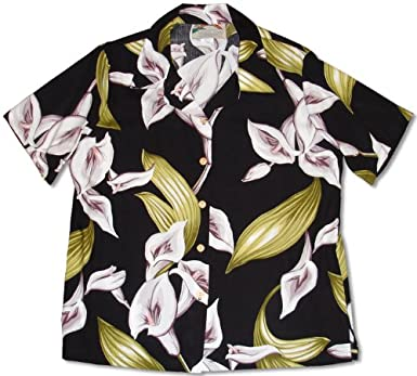 961407df9be43f Calla Lily Women's Hawaiian Aloha Rayon Shirt - Magnum P.I. / Tom Selleck  at Amazon Women's Clothing store: