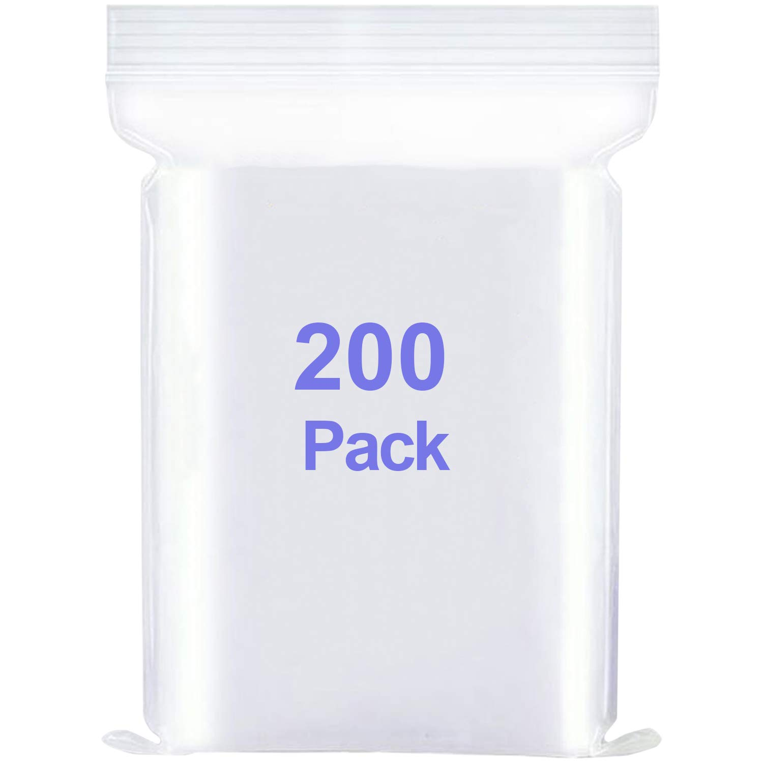 DXF725 Mini Small Plastic Bags with Resealable Zip-Lock (Multiple Sizes Available and Multipack) - Clear Reclosable Poly Zipper Lock Storage Bag (4x7 inch 200 pcs)