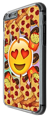 1217 - Smiley Emoji Yum Pizza Fries Doughnuts Design For iphone 4 4S Fashion Trend CASE Back COVER Plastic&Thin Metal -Clear