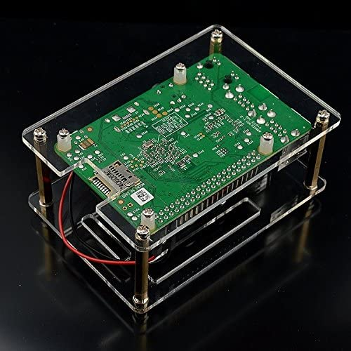 Screwdriverr Tool for Raspberry Pi 4//3//2//B//B+ Cooling System External Fan ILS Transparent Acrylic Case