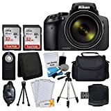 Nikon COOLPIX P900 Digital Camera + Transcend 2X 32GB Memory Card(64GB) + Wireless Remote + Digital Camera/Video Case + Cleaning Kit + Complete Accessory Bundle – International Version (No Warranty) For Sale