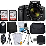 Nikon COOLPIX P900 Digital Camera + Transcend 2 x 32GB Memory Card(64GB) + Wireless Remote + Digital Camera/Video Case + Cleaning Kit + Complete Accessory Bundle - International Version (No Warranty)