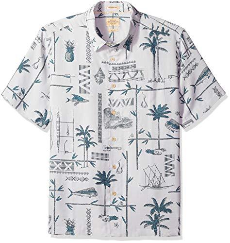 Quiksilver Waterman Men's All The Goods Button Down Shirt, Lunar Rock, M (Lunar Rock)