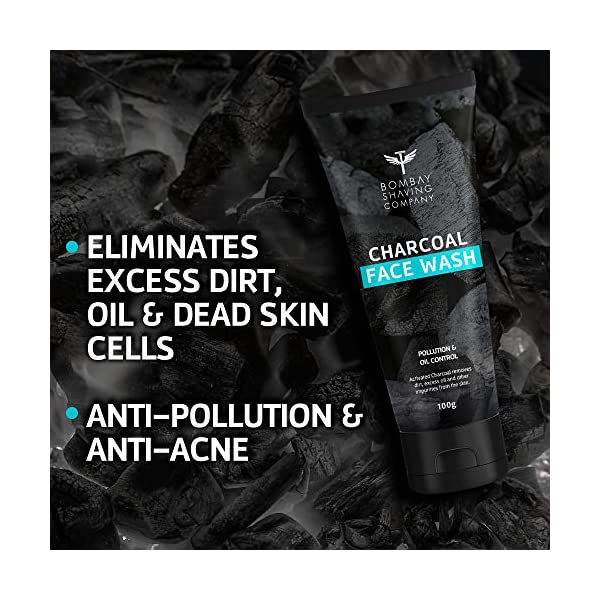 Bombay Shaving Company Charcoal Face Wash, Fights Pollution and Acne, Oil Control For Men & Women - 100g 2021 July ACTIVATED CHARCOAL FACE WASH: Purifying and deep cleansing for refreshed and healthy skin. ANTI-POLLUTION: Removes dirt, pollution and dust from the skin's surface for natural glow. ANTI-ACNE: Helps control excess oil and helps prevent future outbreaks.