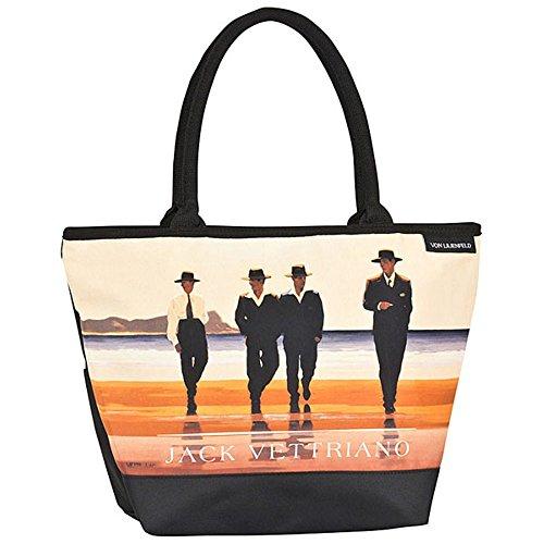 VON LILIENFELD Tasche Damen Handtasche Shopper Henkeltasche bedruckt mit Motiv Kunst Design Jack Vettriano: The Billy Boys