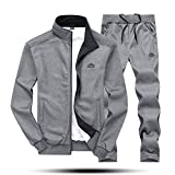 MAGNIVIT Men's Athletic 2 Piece Tracksuit Set 2 Pieces Activewear Dark Grey