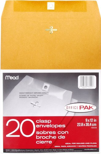 Mead Clasp Envelopes Office 76020