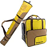 BRUBAKER Superfunction - Limited Edition - Combo Ski Boot Bag and Ski Bag for 1 Pair of Ski, Poles, Boots and Helmet