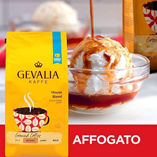 Gevalia House Blend Medium Roast Ground Coffee (12 oz Bags, Pack of 6)