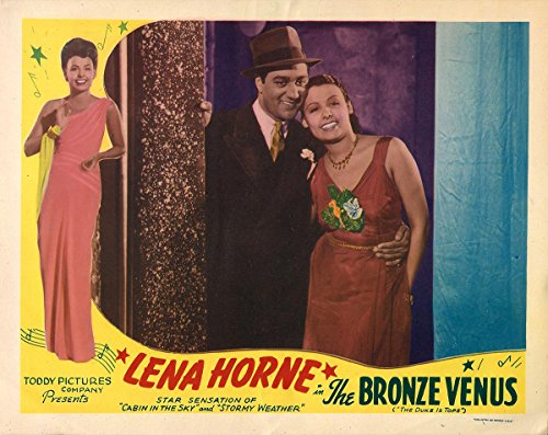 BRONZE VENUS, THE (1938; 1943 RR) Lobby card ft. Lena Horne, Ralph Cooper