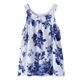 #7: Jarsh Summer Toddler Kids Baby Girl Beautiful Blue Flower Floral Printed Dress Outfits