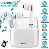 Wireless Earbuds with Charging Case,Bluetooth Earbuds with Mic for Running,Wireless Bluetooth Earphones with Microphone,Mini Sports Earbuds Compatible iOS Android Huawei Samsung Phones X 8 7