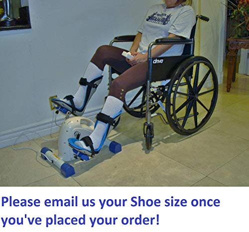 Foot Splints + Motorized Exercise Cycle / Bike for the Handicapped & Disabled ()