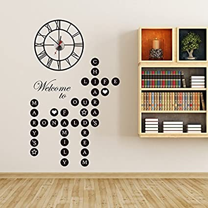 Amazoncom Walplus Removable Wall Stickers Word Puzzles Welcome